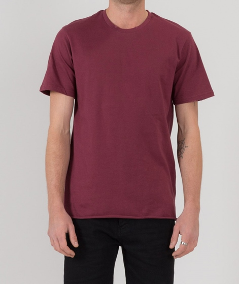 TOPMAN Nibble T-Shirt burgundy