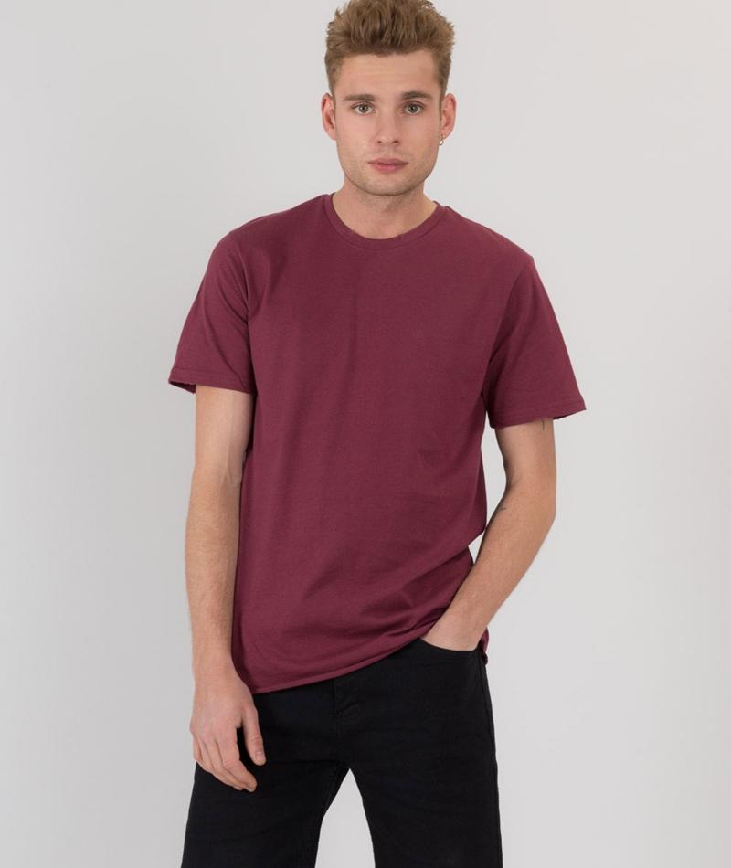 TOPMAN Nibble T-Shirt burgundy