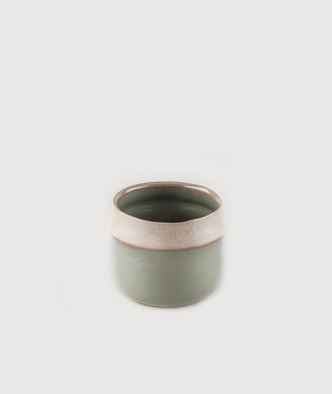 MADAM STOLTZ Flowerpot green/matt beige