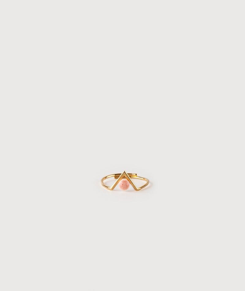 LOUISE KRAGH Inbetween Ring pink coral