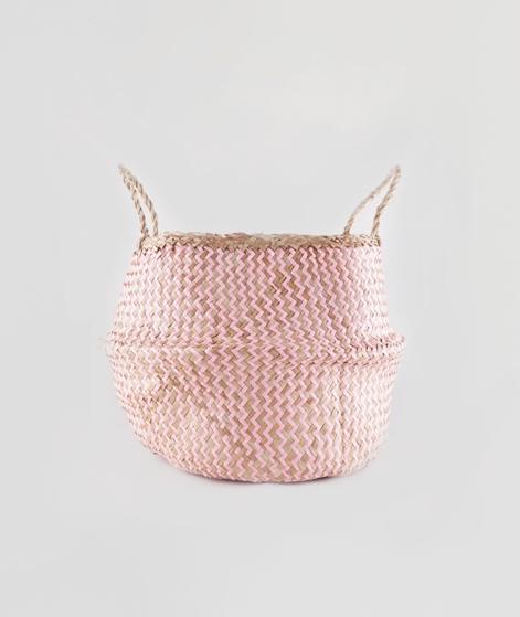 LIV Korb Bast rosa groß