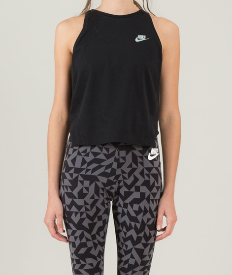 NIKE NSW Tank Crop Hologram Top black