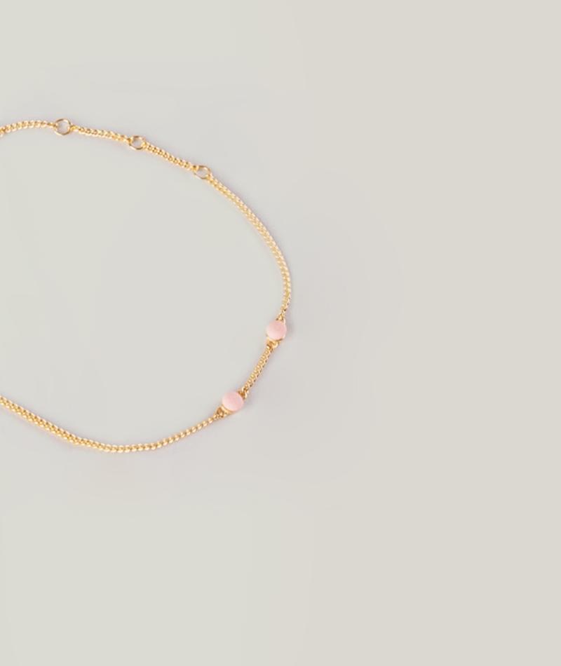 LOUISE KRAGH Microdot Armband pink coral