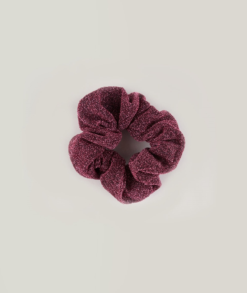 EBBA Big Lurex Scrunchie berry