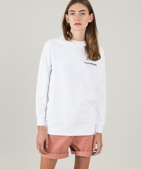 POP CPH Love You Till... Sweatshirt weiß