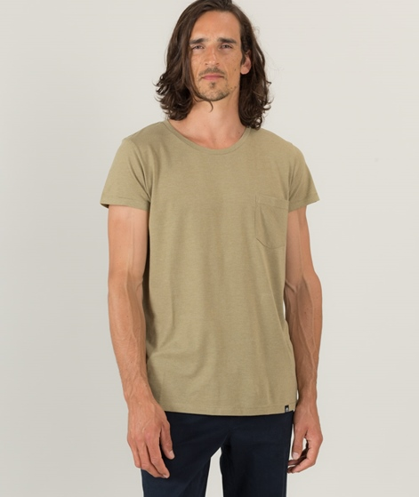 CHEAP MONDAY Cap Pocket T-Shirt oliv