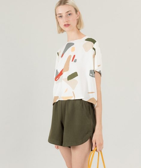 NATIVE YOUTH Organic Crop Bluse white