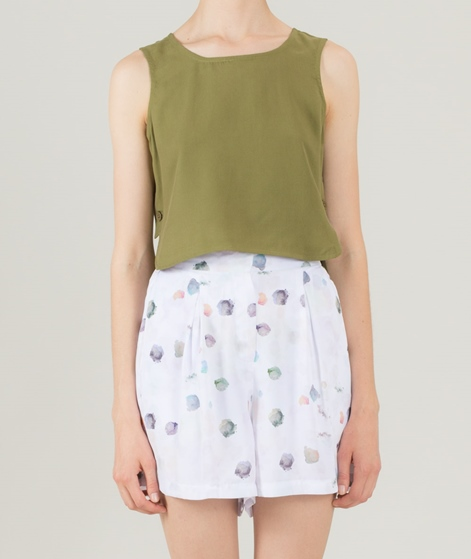 NATIVE YOUTH Isotope Crop Top olive