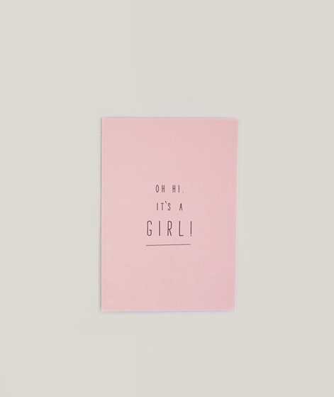 PAPIER AHOI It`s a Girl Postkarte