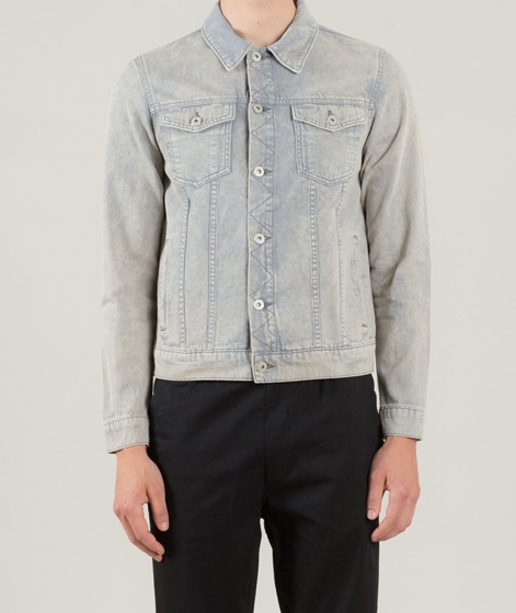 TOPMAN Washed Western Jacke grey
