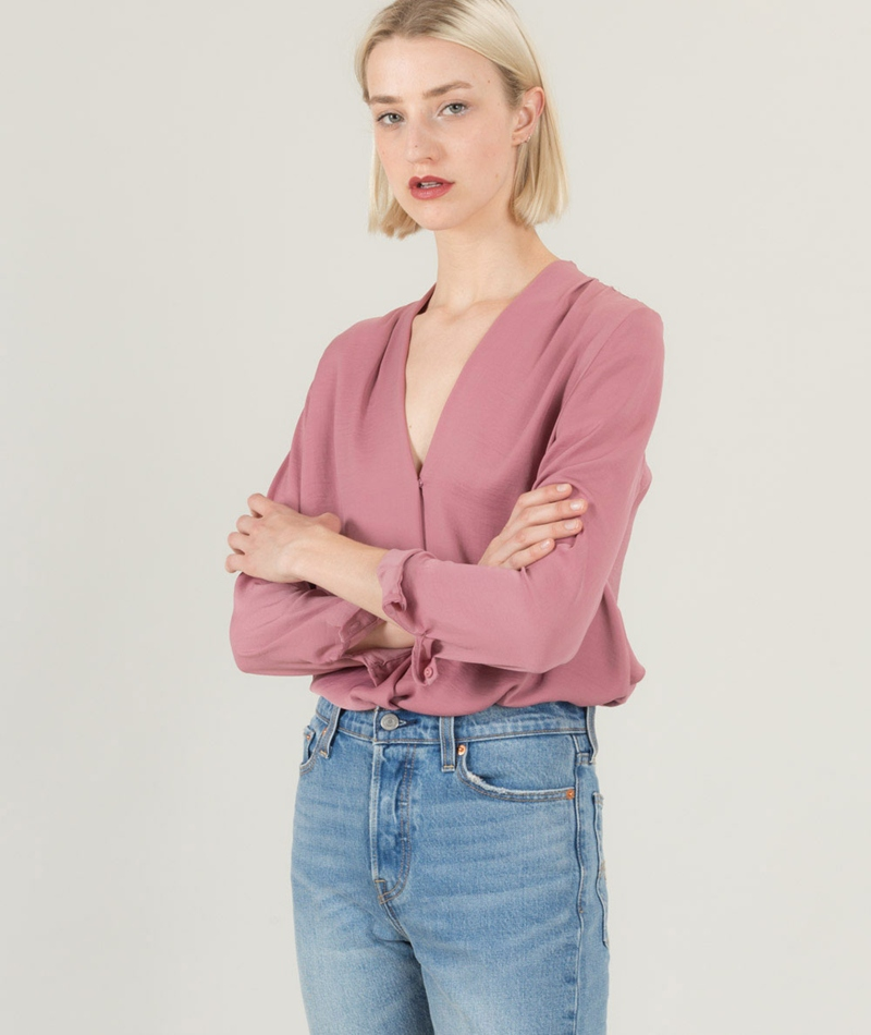 MOSS CPH Angel Polysilk Bluse rose