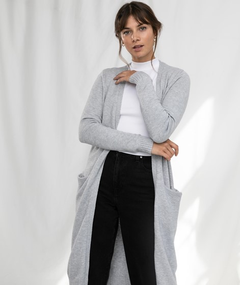VILA Viril Long Cardigan light grey