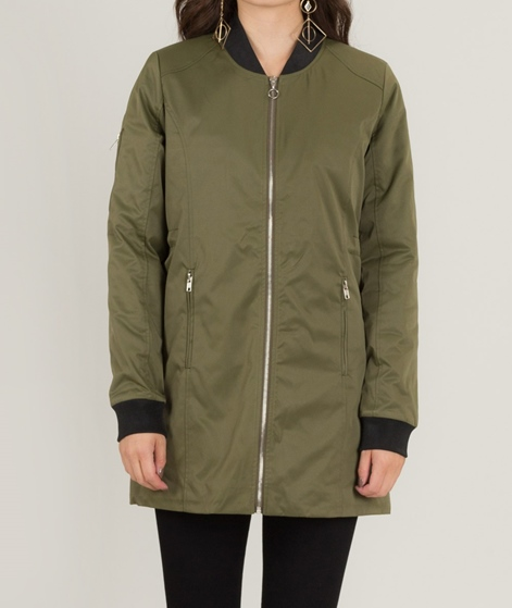 POP CPH Long Padded Bomber Jacke olive