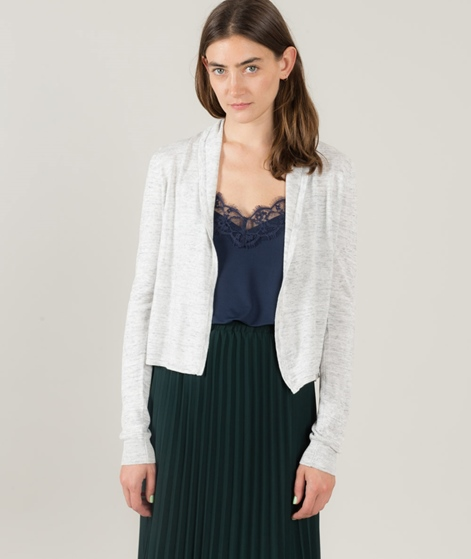 VILA Vilesly Short Cardigan light grey