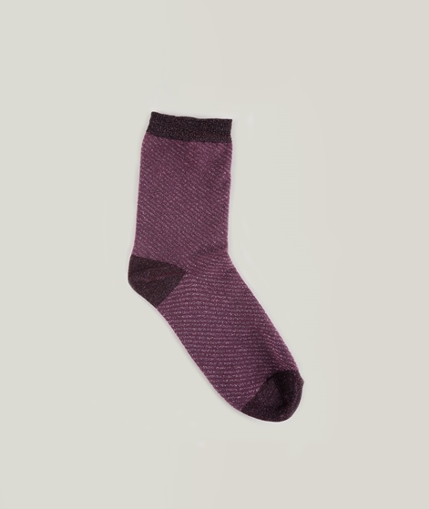 MP DENMARK Olga Socken purple glitter