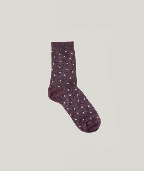 MP DENMARK Swan Socken plum glitter