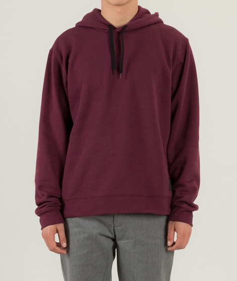 CHEAP MONDAY Hood Pullover darkest red