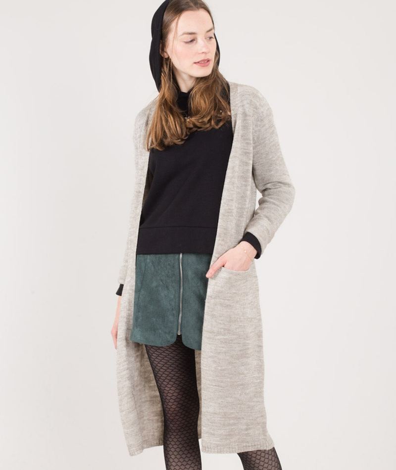 VILA Viriva Long Cardigan light grey