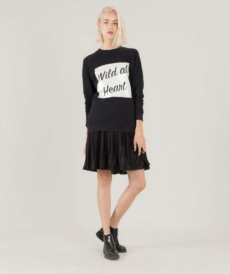 POP CPH Party Pleated Rock black