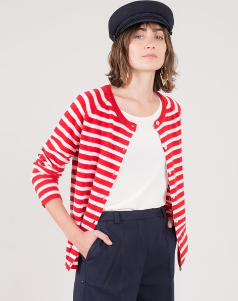 MADS NORGAARD CosyStripe Cimona Cardigan