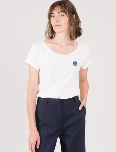 DES PETITS HAUTS Imaki T-Shirt ecru