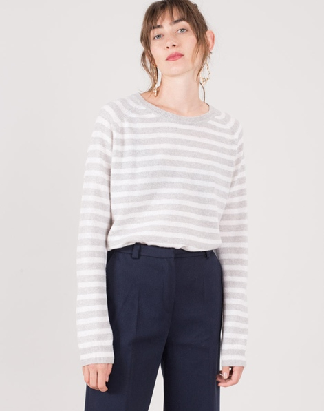 MADS NORGAARD CosyStripe Kaxa Pullover