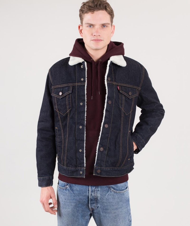 LEVI`S Sherpa Trucker Jacke raw power
