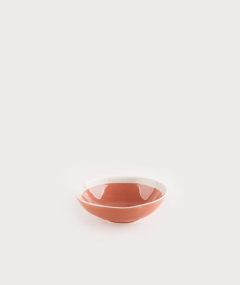 MADAM STOLTZ Stoneware Bowl paprika/whit