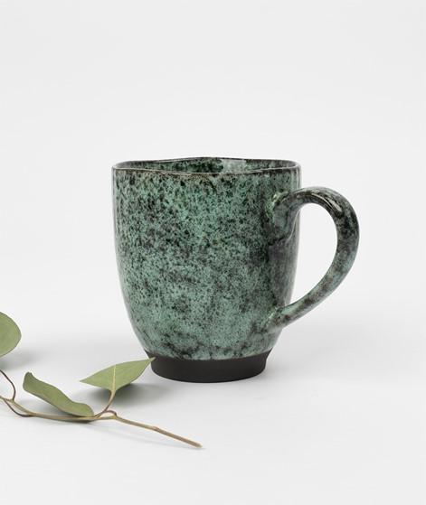 MADAM STOLTZ Stoneware Mug green black