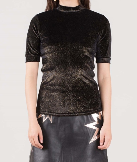 POP CPH Velvet Glitter T-Shirt gold