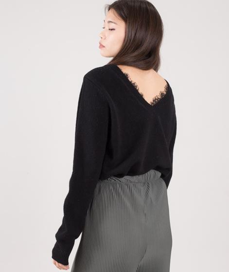 VILA Vilam Lace Detail Pullover schwarz