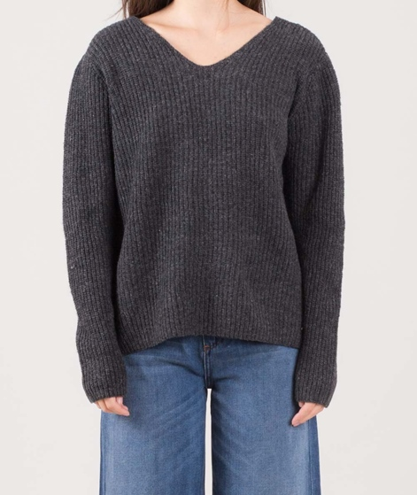 VILA Vilam V-Neck Pullover dark grey