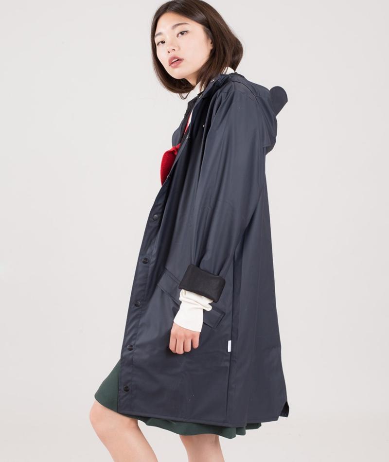 RAINS Long Jacket blue/blackNICHT
