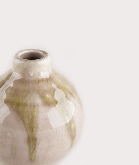 MADAM STOLTZ Terra Cotta Vase klein