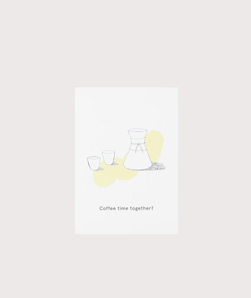 KAUF DICH GLÜCKLICH Postkarte Coffee