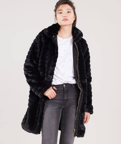 VILA Vimeria Faux Fur Jacke black