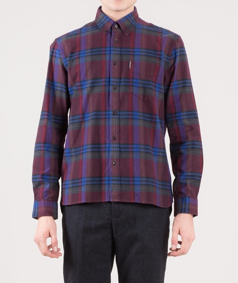 BEN SHERMAN Brushed Crepe Check Hemd