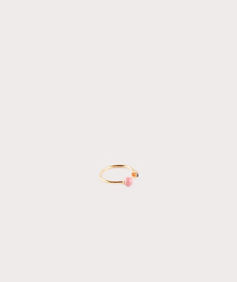 LOUISE KRAGH Square pearl Ring gold