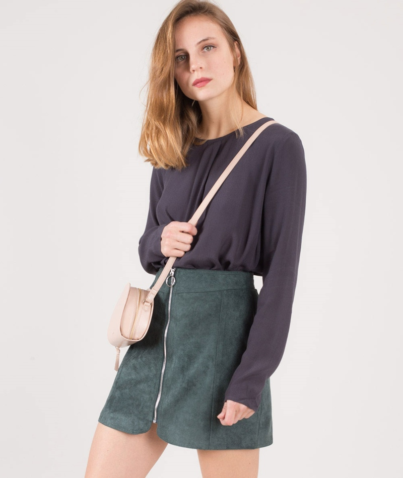 M BY M Hedi Hamino Bluse magnet grey