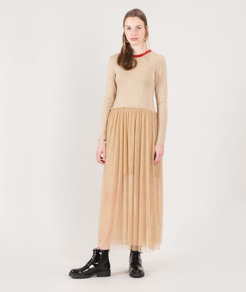 MADS NORGAARD Drop Tulles Kleid gold