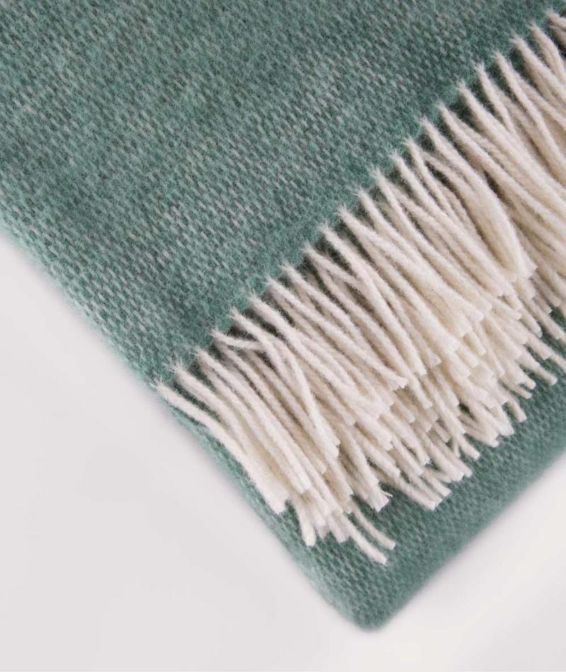 COUDRE Wool Blanket greenstone