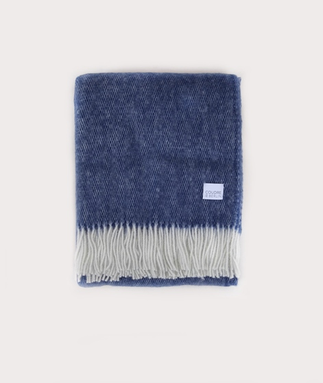 COUDRE Wool Blanket bluestone