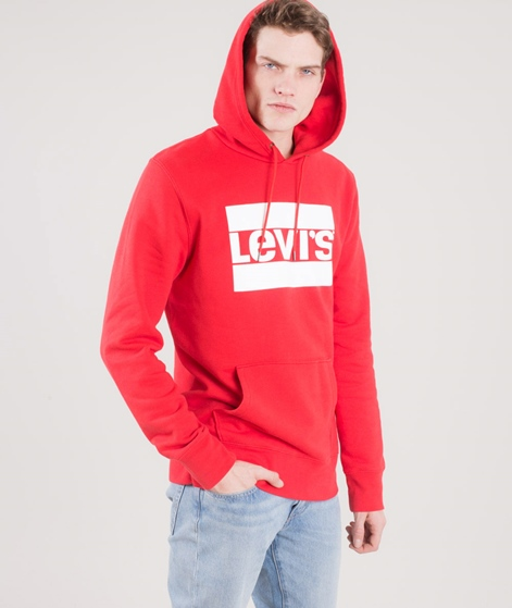 Levis Graphic Po Hoodie Pullover Red