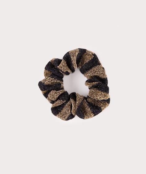EBBA Small Lurex Scrunchie gold/black