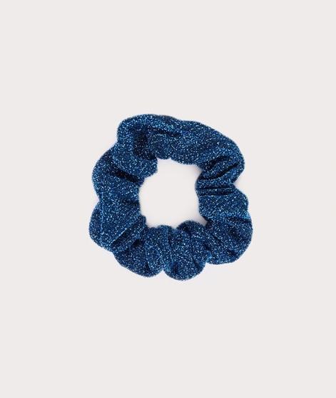 EBBA Small Lurex Scrunchie blue