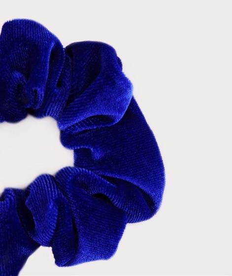 EBBA Small Velour Scrunchie vibrant blue