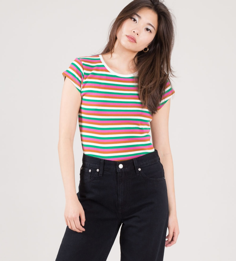 MADS NORGAARD Trappy T-Shirt pink/multi