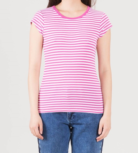 MADS NORGAARD Trappy T-Shirt deep pink