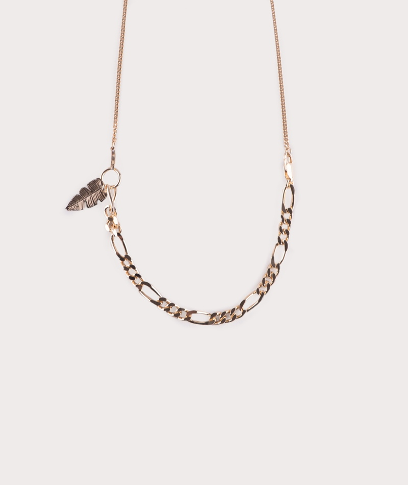 TOO DREAMY Palm Collier Kette gold