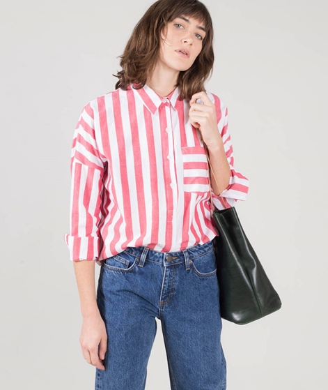 M BY M Terence Bluse cherry sugar stripe
